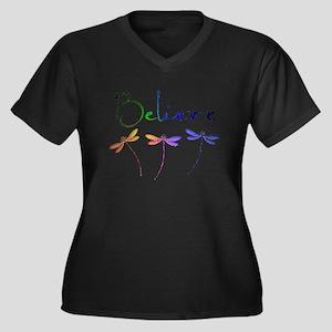 Believe...dragonflies Plus Size T-Shirt