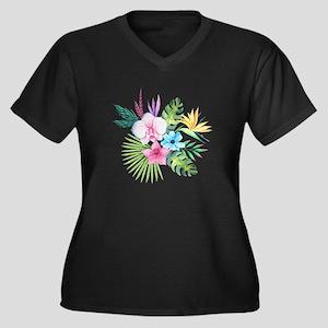Watercolor Tropical Bouquet 3 Plus Size T-Shirt