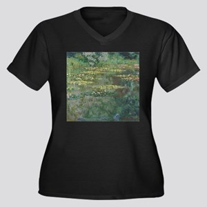 Waterlilies by Claude Monet Plus Size T-Shirt