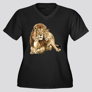Lion And Cubs Plus Size T-Shirt