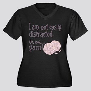 Distracted by yarn Pink Plus Size T-Shirt