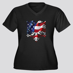 Albanian American Eagle Plus Size T-Shirt
