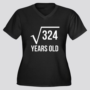 18 Years Old Square Root Plus Size T-Shirt