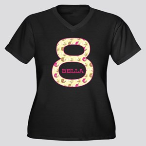 8th Birthday Women's Plus Size V-Neck Dark T-Shirt