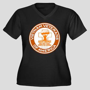 VVA Orange Women's Plus Size V-Neck Dark T-Shirt