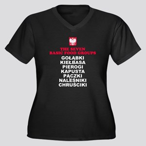 Seven Basic Polish Food Groups Plus Size T-Shirt