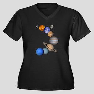 allplanets_onblack_10x10_apparel Plus Size T-Shirt