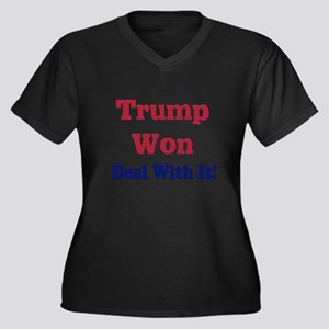 Trump Won Deal With It! Plus Size T-Shirt