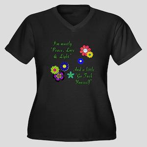 Peace, Love & Light Plus Size T-Shirt