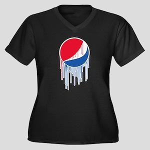 Pepsi Varsit Women's Plus Size V-Neck Dark T-Shirt