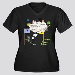 Snooker Math Women's Plus Size V-Neck Dark T-Shirt