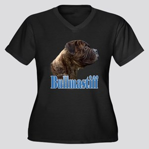 Bullmastiff(brindle)Name Women's Plus Size V-Neck
