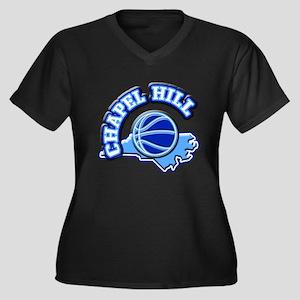 Chapel Hill Basketball Women's Plus Size V-Neck Da