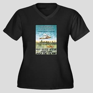 Aircraft Women's Plus Size V-Neck Dark T-Shirt