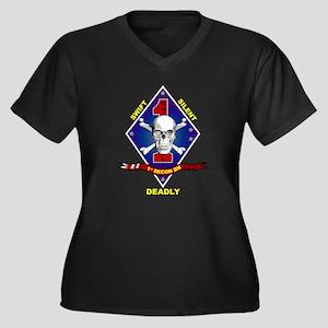 1st Recon Women's Plus Size V-Neck Dark T-Shirt