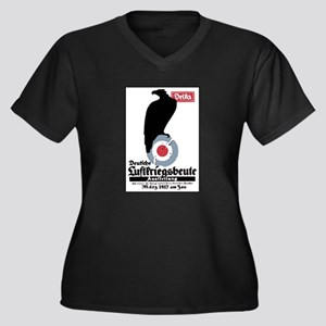 Captured Allied Aircraft Women's Plus Size V-Neck