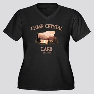 Camp Crystal Lake Counselor Women's Plus Size V-Ne