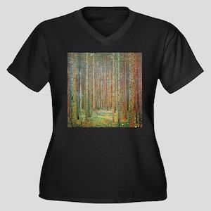 Gustav Klimt Pine Forest Women's Plus Size V-Neck