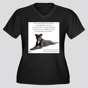 Xena the Pit Bull Plus Size T-Shirt