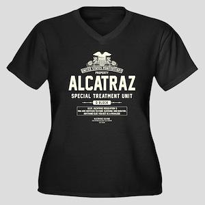 Alcatraz S.T.U. Women's Plus Size V-Neck Dark T-Sh