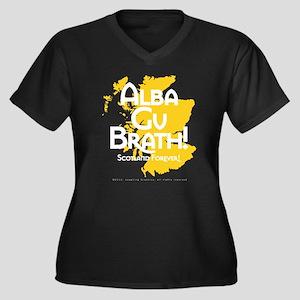 Alba Women's Plus Size V-Neck Dark T-Shirt