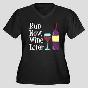 Run Now Wine Later Plus Size T-Shirt