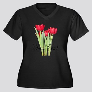Personalizable Tulips Plus Size T-Shirt