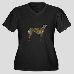 Greyhound (b Women's Plus Size V-Neck Dark T-Shirt