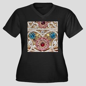 bohemian turquoise red rhineston Plus Size T-Shirt
