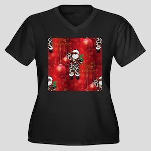 african leopard santa Plus Size T-Shirt
