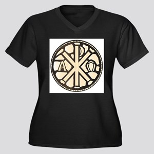 Alpha Omega Stain Glass Plus Size T-Shirt
