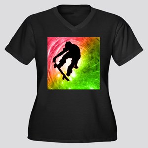 Skateboarder in a Psychedelic Cyclone Plus Size T-