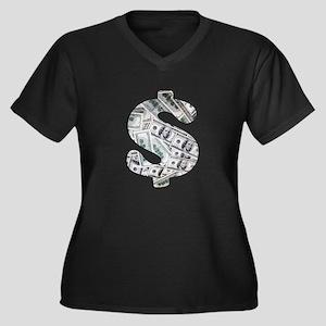 Money - Hundred Dollar Bills Plus Size T-Shirt
