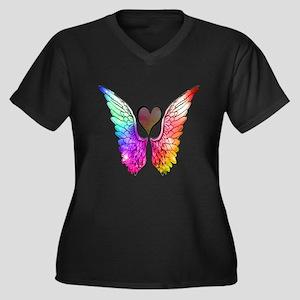 Angel Wings Heart Plus Size T-Shirt