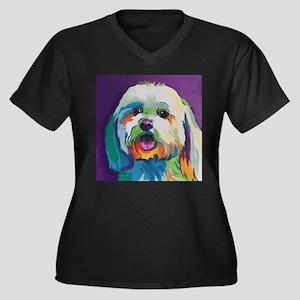 Dash the Pop Art Dog Plus Size T-Shirt