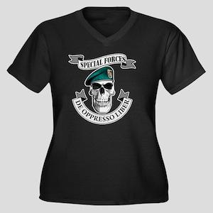 specialforce Women's Plus Size Dark V-Neck T-Shirt