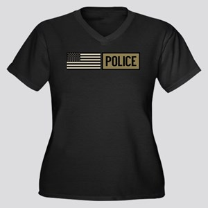 Police: Tact Women's Plus Size V-Neck Dark T-Shirt