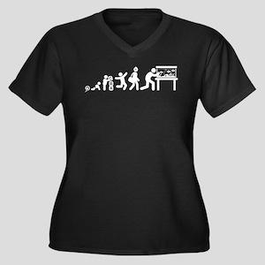 Fish Lover Women's Plus Size V-Neck Dark T-Shirt
