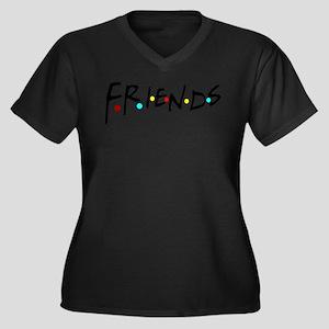 friendstv log Plus Size T-Shirt