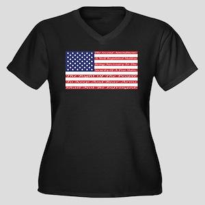 2nd Amendment Flag Plus Size T-Shirt