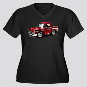 BabyAmericanMuscleCar_57BelR_Red Plus Size T-Shirt