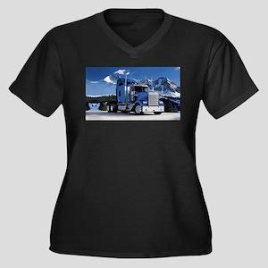 Mountain Blue Kenworth Plus Size T-Shirt