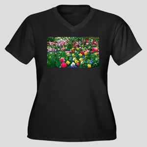 Flower Garden Plus Size T-Shirt