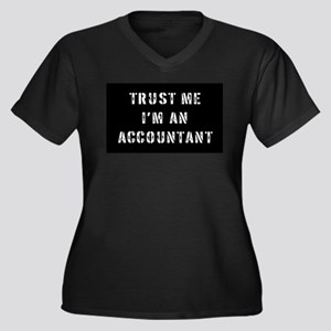 Accountant Gift Women's Plus Size V-Neck Dark T-Sh