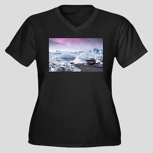 Glaciers of Iceland Plus Size T-Shirt