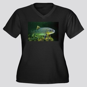 BROWN TROUT Plus Size T-Shirt