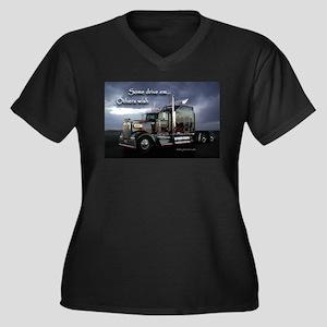 Truckers Women's Plus Size V-Neck Dark T-Shirt