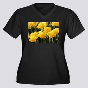 Daffodil flowers in bloom Plus Size T-Shirt