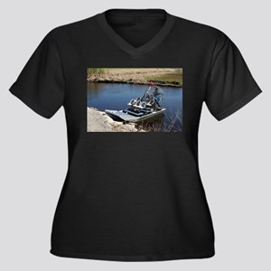 Florida swamp airboat 2 Plus Size T-Shirt