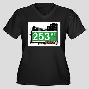 253 PLACE, QUEENS, NYC Women's Plus Size V-Neck Da
